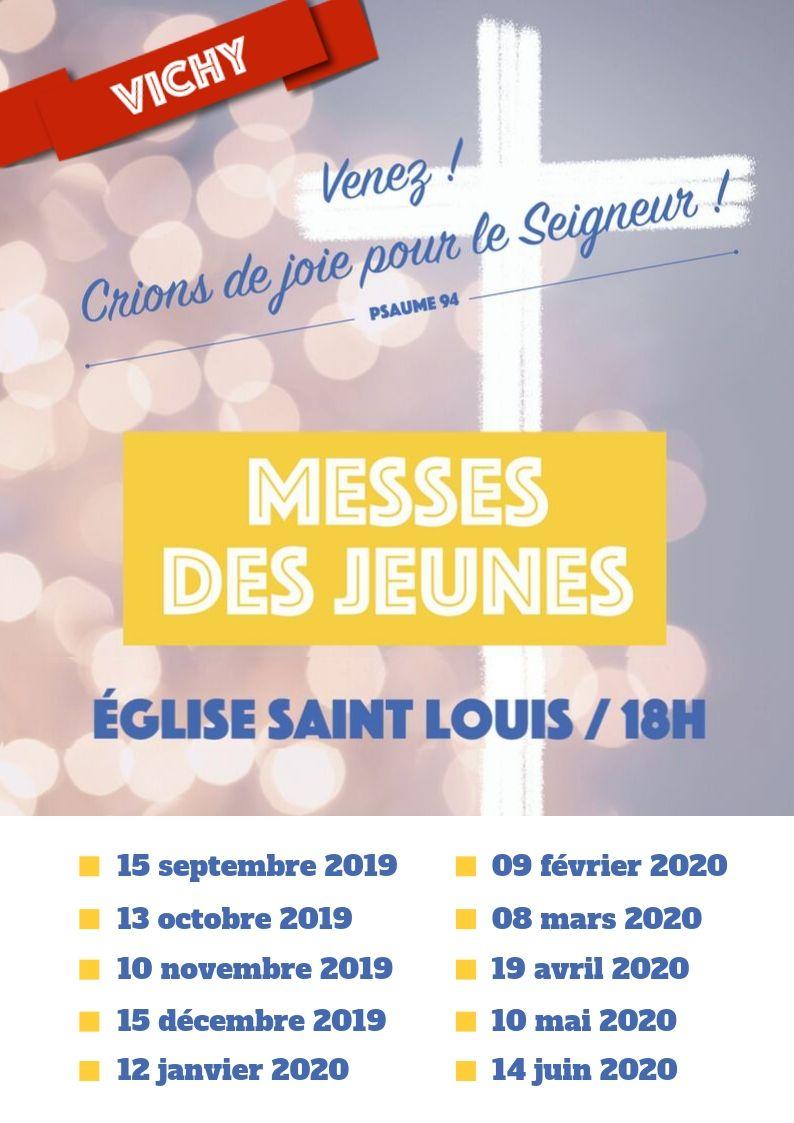 MESSES  DES  JEUNES  2019 - 2020