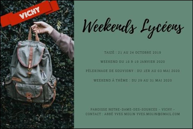 Week-Ends  Lycéens