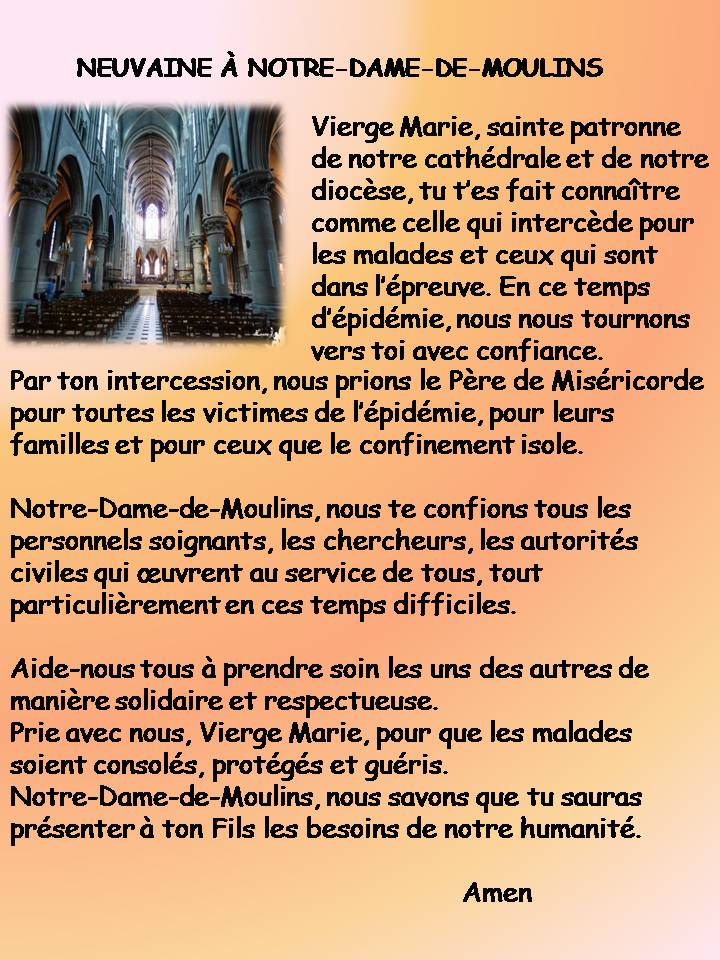 Neuvaine à Notre Dame de Moulins