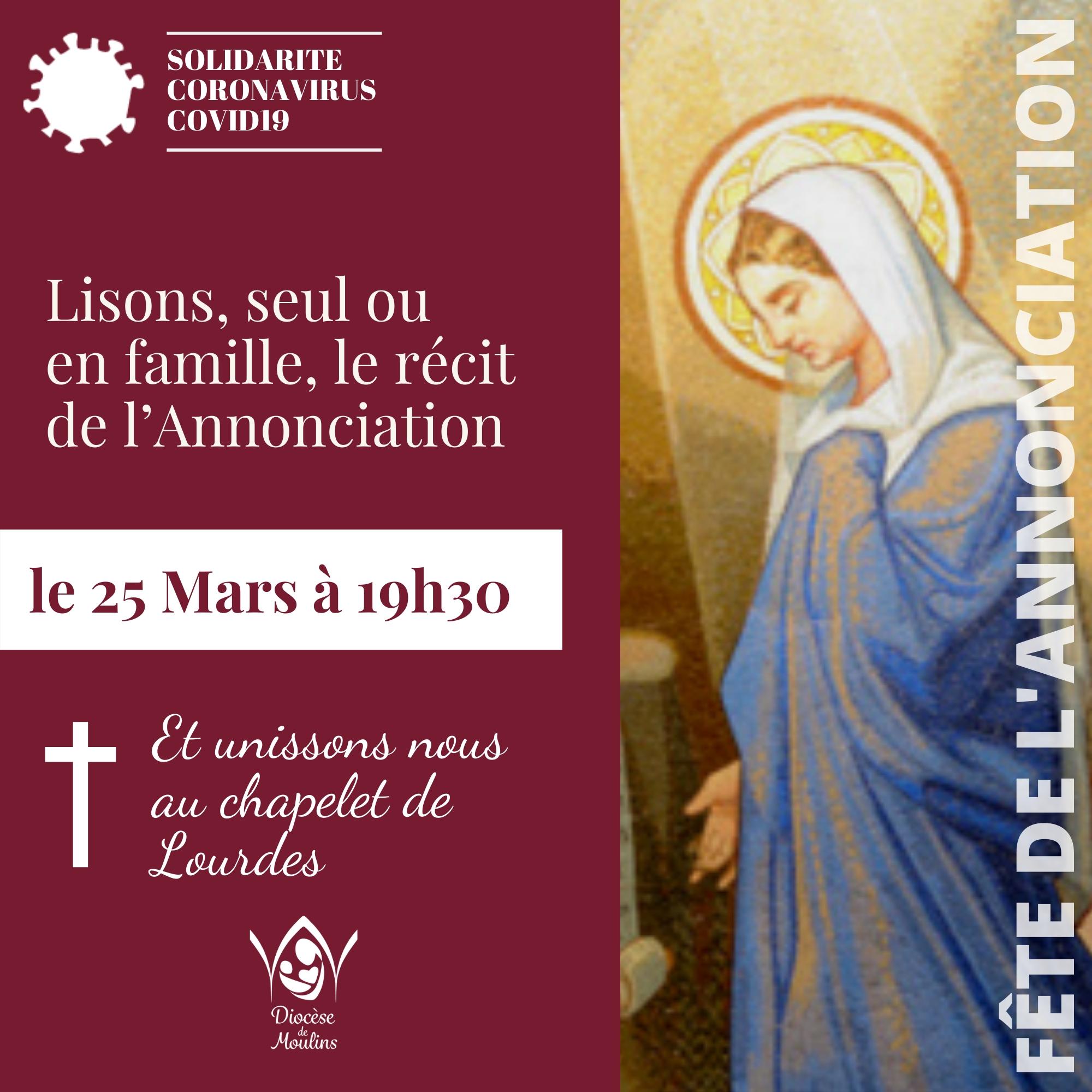 Fête de l'Annonciation le 25 mars