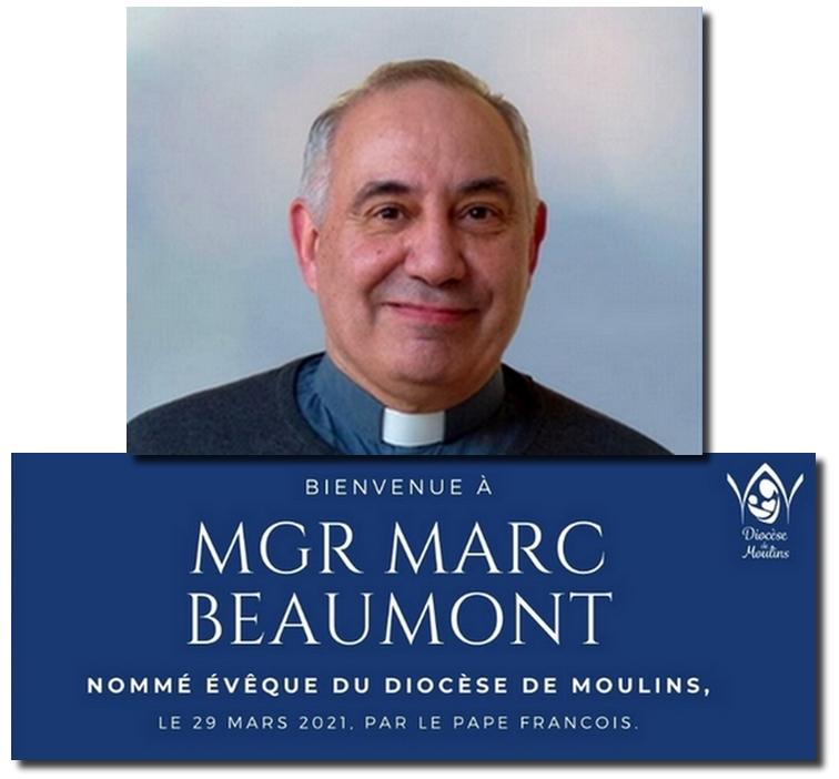 Nomination de Monseigneur Marc BEAUMONT, Evêque de Moulins