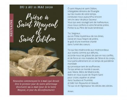 Du 2 au 11 mai 2020  Prière à St Mayeul et St Odilon