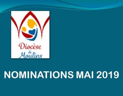 NOMINATIONS  MAI 2019