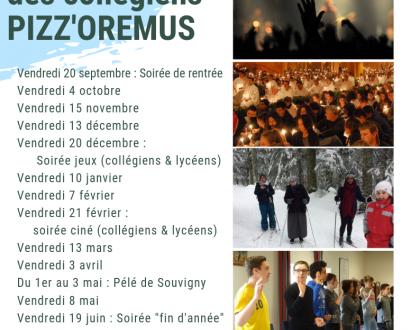 Aumônerie des collégiens  PIZZ'OREMUS