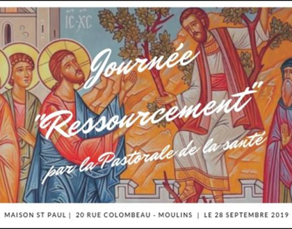 Journée de ressourcement pour la pastorale de la santé   le 28 septembre